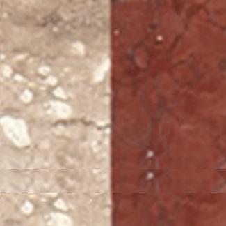 Mosaico Anticato Travertino com Rosso Villa do Mármore (2x2) Image